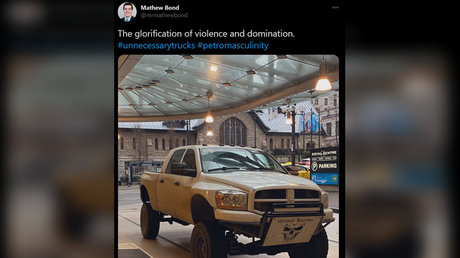 Vancouver official provokes Canadian meltdown after launching Twitter tirade against 'violent' 'petro masculine' PICKUP TRUCK