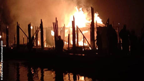 'Arson' destroys four UNICEF Rohingya schools, days after blaze burned down Bangladeshi camp leaving thousands homeless