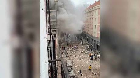 Madrid rocked by huge blast as footage shows smoke and debris-littered streets (VIDEOS, PHOTOS)