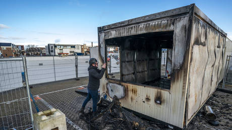 Troubled youngsters torch Covid-19 testing site in Netherlands