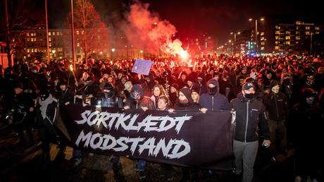 Anti-lockdown protesters in Denmark burn effigy of PM, brawl with police (VIDEOS)