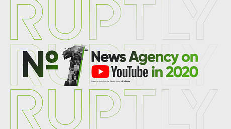 RT's Ruptly was MOST-WATCHED news agency on YouTube in 2020, raking in nearly 430mn views