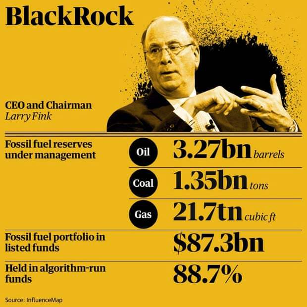 BlackRock Threatens to Shed Some of Its Massive Fossil Fuels Portfolio