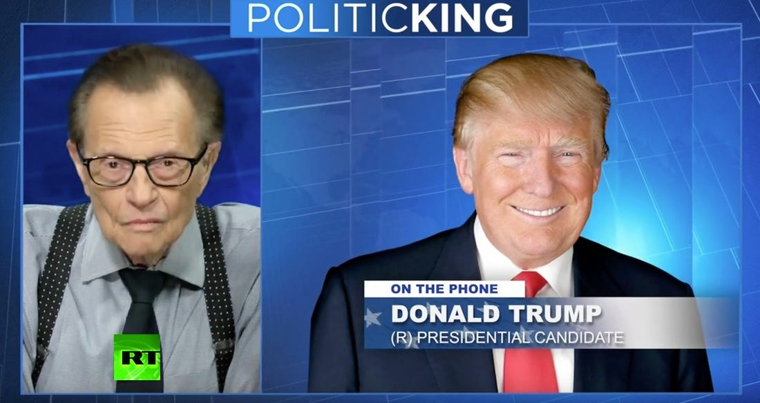 Larry King – former Russia Today host – DEAD