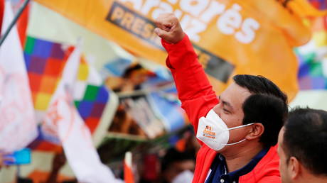 Correa-backed candidate Arauz leads in Ecuador election, comes short of one round victory