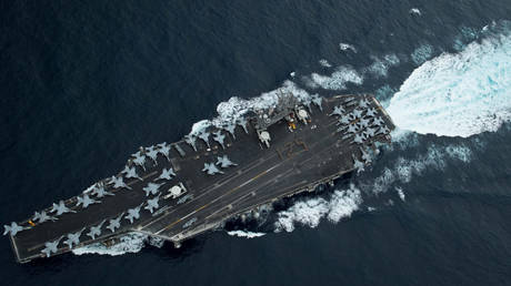 2 US aircraft carriers conduct joint exercises in disputed South China Sea amid tensions with Beijing