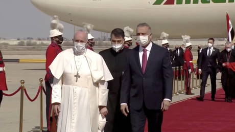 Pope Francis begins historic trip to Iraq in first papal visit to the Middle Eastern nation (VIDEO)