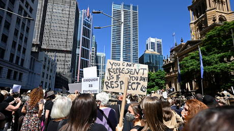 Low bar for 'triumph of democracy'? Australian PM under fire after bragging women protesters weren't shot
