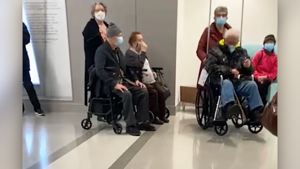 Troubling video shows vaccine-eager seniors in line that stretches hallways at Vaughan hospital Lucas Casaletto