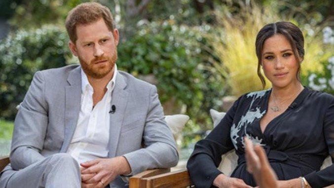 The Latest: Meghan describes entering royal life naively