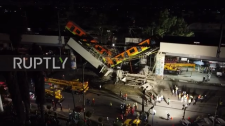 WATCH: Aftermath of deadly Mexico City train crash captured in shocking drone footage