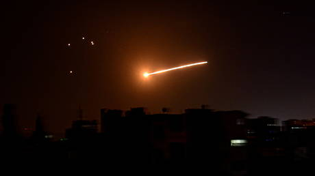 Explosions over Damascus: Syrian air defenses light up sky in response to 'Israeli aggression' – state media