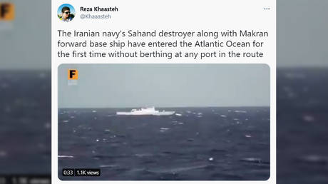 Iran military vessels enter Atlantic Ocean for first time (VIDEO)