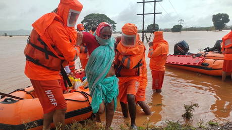 Indian rescue efforts impeded by worst monsoon rains in decades as west coast state death toll reaches 149