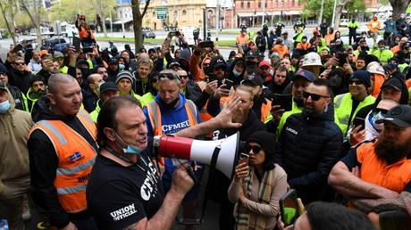'Appalling': Premier of Australia's Victoria condemns 'pretend' 'F**k the jab' protesters in Melbourne