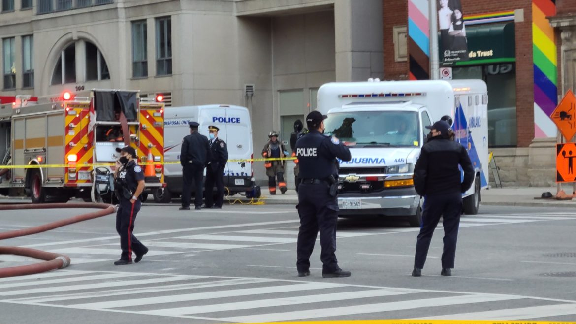 Reports of loud explosion as bomb squad detonates suspicious package near Rogers building