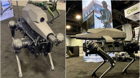 'Terrifying Terminator s**t': Robotics firm equips 'robo dog' with night-vision SNIPER RIFLE