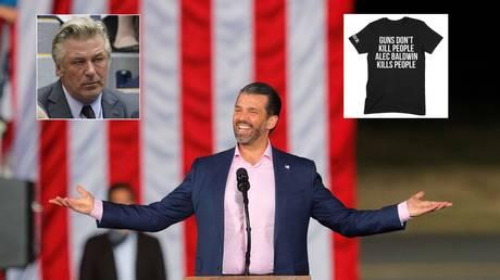 'Guns don't kill people, Alec Baldwin kills people': Donald Trump Jr. reignites feud with liberal actor with sarcastic T-shirt